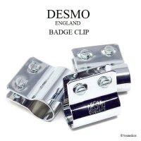 英国 DESMO ENGLAND 刻印入 デスモ バッジクリップ