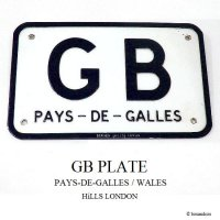 貴重!1950's VINTAGE HiLLS GBプレート PAYS-DE-GALLES/WALES