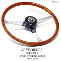 1960's SPEEDWELL FORMULA WOOD/スピードウェル フォーミュラー ウッド ステアリング 48スプラインボス MINI