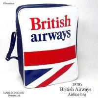 1970's British Airways Airline bag shoulder UJ/エアライン ユニオンジャック ショルダーバッグ デッドストック未使用
