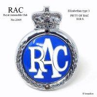 1950's RAC/Royal Automobile Club グリルバッジ 七宝 エナメル フィティング付 エクセレントコンディション