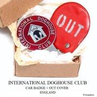 超貴重!1960's ORIGINAL INTERNATIONAL DOGHOUSE CLUB BADGE & OUT COVER/ドッグハウスクラブ カーバッジ & OUTカバー BOX