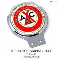 当時物 THE AUTO CAMPING CLUB カーバッジ RENAMEL LONDON製