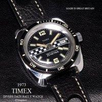 1973年 Vintage TIMEX  DIVERS DATE RALLY /英国 ビンテージ タイメックス ダイバーズ デイト ラリー 腕時計