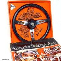 NOS Springalex Steering Wheel Full Set/スプリンガレックス ステアリング 48スプライン ミニ用 フルセット デッドストック BOX入り