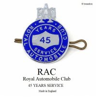 1960's Vintage RAC/Royal Automobile Club 45 YEARS SERVISE ピンバッジ