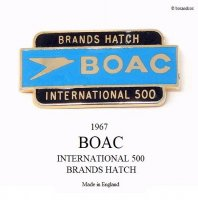 1967 BOAC INTERNATIONAL 500 BRANDS HATCH ピンバッジ