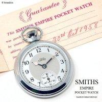 1958年 SMITHS EMPIRE POCKET WATCH/スミス エンパイア 懐中時計 SV/GY ギャランティー