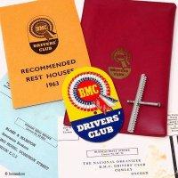 NOS 1963年 ORIGINAL BMC DRIVERS' CLUB GREELE BADGE & GOODS/BMC ドライバーズ クラブ グリルバッジ & グッズ デッドストック