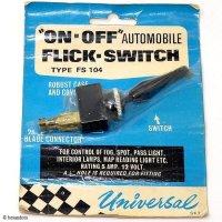 NOS Universal FLICK SWITCH/ユニバーサル フィリックスイッチ デッドストック パッケージ未開封