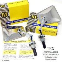 NOS TEX VIEWMASTER WING MIRRORS Continental Model/テックス ビューマスター ウイングミラー コンチネンタルモデル デッドストック BOX