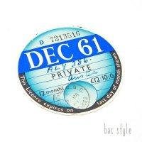 1961年 AUSTIN/オースチン TAX DISC タックスディスク(DEC)