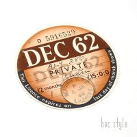1962年 AUSTIN/オースチン TAX DISC タックスディスク(DEC)