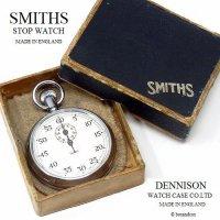 1950-60's SMITHS STOP WATCH DENNISON CASE/スミス ストップウォッチ デニソンケース 極初期 旧ロゴ BOX