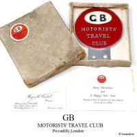 NOS 1950-60's GB MOTORISTS' TRAVEL CLUB/モータリスト カークラブ カーバッジ デッドストック オリジナルBOX