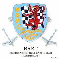 NOS 1960's BRITISH AUTOMOBILE RACING CLUB GRILLE BADGE/BARC グリルバッジ デッドストック