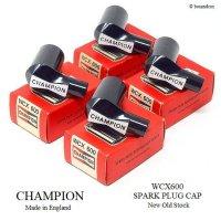 NOS CHAMPION WCX600 SPARK PLUG COVER/チャンピオン プラグキャップ 4個SET 箱付 デッドストック