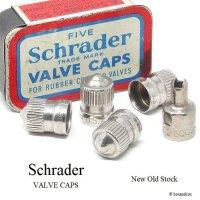 NOS Schrader Valve Caps/シュレーダー タイヤ バルブキャップ+コア回しキャップ デッドストック未使用