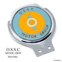 NOS 1960's O.S.S.C MOTOR GROUP カーバッジ RENAMEL製 デッドストック