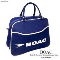 1960's 英国 BOAC Airline bag Boston/エアライン ボストンバッグ