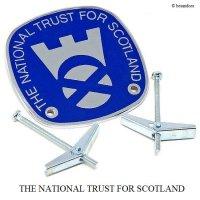 NOS THE NATIONAL TRUST FOR SCOTLAND/ナショナルトラスト スコットランド カーバッジ ロゴ デッドストック