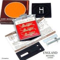 NOS ENGLAND THREE LIONS CAR BADGE by RENAMEL/イングランド スリーライオンズ カーバッジ デッドストック オリジナルBOX
