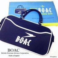 NOS 1960's BOAC Airline Cabin bag Boston/エアライン ボストンバッグ デッドストック オリジナルBOX