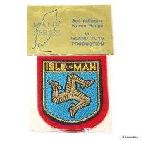 NOS 1960's  ISLE OF MAN Embroidered Patches/ビンテージ マン島 エンブレム刺繍ワッペン デッドストック未開封