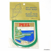 NOS 1960's PEEL ISLE OF MAN Embroidered Patches/ビンテージ ピール マン島 エンブレム刺繍ワッペン デッドストック未開封