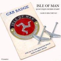 NOS 1960's ISLE OF MAN CAR BADGE/マン島 カー グリルバッジ デッドストック 未開封