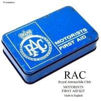 1960's Vintage RAC/Royal Automobile Club MOTORISTS FIRST AID KIT ファーストエイド TIN缶