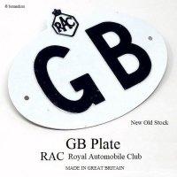 NOS 1950-60's ORIGINAL GBプレート RAC デッドストック未使用