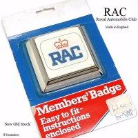 NOS 1970's RAC/Royal Automobile Club グリルバッジ デッドストック パッケージ未開封