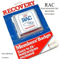 NOS 1970's RAC/Royal Automobile Club RECOVERY グリルバッジ デッドストック パッケージ未開封