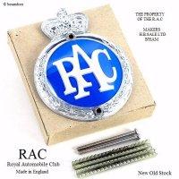 NOS 1960's RAC/Royal Automobile Club グリルバッジ デッドストック オリジナルフィティング BOX 完品