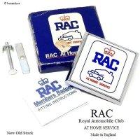 NOS 1970's RAC/Royal Automobile Club AT HOME SERVICE グリルバッジ デッドストック オリジナルBOX