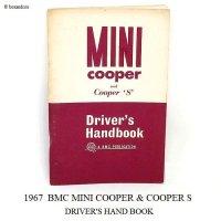 1967 BMC MINI COOPER & COOPER 'S' DRIVER'S HANDBOOK/ミニ クーパー & クーパーS ドライバーズ ハンドブック