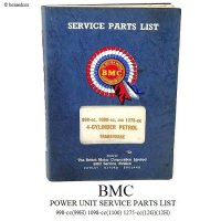 1960'S BMC POWER UNIT SERVICE PARTS LIST MINI SALOONS MK2 Austin,Morris,MG,Princess パワーユニット パーツリスト