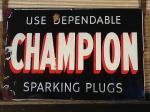 英国 CHAMPION SPARKING PLUG サイン 看板