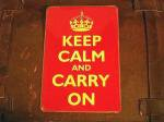英国 KEEP CALM AND CARRY ON サイン 看板