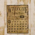 アンティーク アイアン製カレンダー<WELCOME TO OUR HOME>