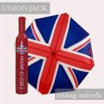 ユニオンジャック ボトル型 折りたたみ傘