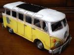ブリキ製 レトロ ワーゲン タイプ2 バス イエロー