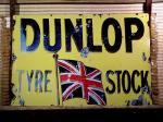 英国 DUNLOP TYRE STOCK ダンロップ サイン 看板
