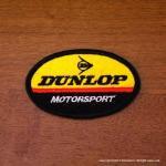 DUNLOP MOTORSPORT ダンロップ ワッペン (小) BK
