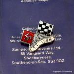 1986年 Isle of man TT レース フラッグピンバッジ