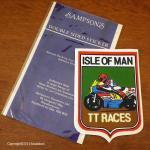 ISLE OF MAN TT RACES ダブルサイド ステッカーマン島