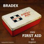 英国 BRADEX mini FITRST AID kit 車載救急箱 TIN缶