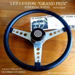 貴重!1960's LES LESTON GP/レスレストン グランプリ レザーステアリング フルセット MINI用ボス