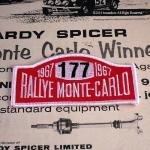 1967年 モンテカルロラリー優勝ゼッケン BMCミニ   ワッペン